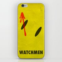 watchmen iPhone & iPod Skins featuring Watchmen - The Comedian by Fabio Castro