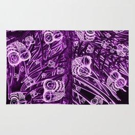 Mosaic of Owls V2 Purple Rug