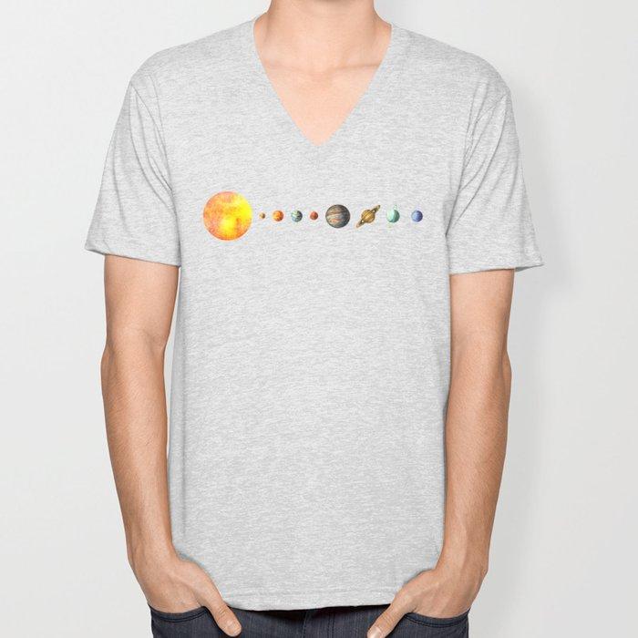 The Solar System Unisex V-Neck