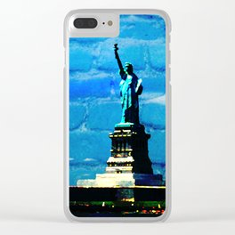 The Statue of Liberty, USA Clear iPhone Case