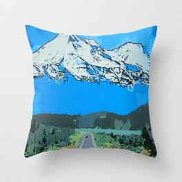 Abstract Painting Mt Everest Throw Pillow