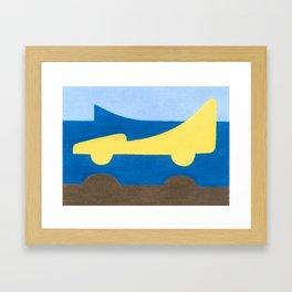 The Nose Framed Art Print