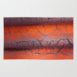 Orange rust Rug