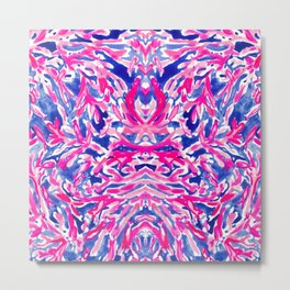 Pink Corals into Ocean Metal Print