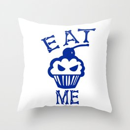 Eat Me (Blue Version) Throw Pillow