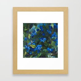 A Blueberry View Framed Art Print