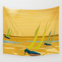 May Down Stream in Slow Motion - shoes stories Wall Tapestry