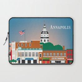 Annapolis, Maryland - Skyline Illustration by Loose Petals Laptop Sleeve