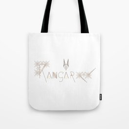 Kangaroo Letterform and Pattern Combo Tote Bag
