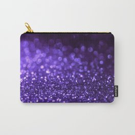 Pantone Color 2018 Ultra Violet Purple Glitter Carry-All Pouch