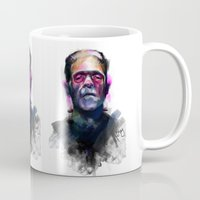 frank Mugs featuring Frank by Saje Gary