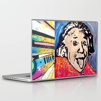 einstein Laptop & iPad Skins featuring Einstein by Paola Gonzalez