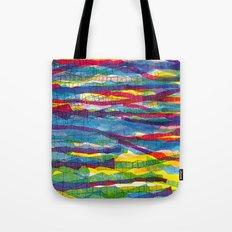 stripes traffic Tote Bag