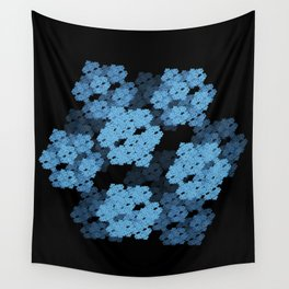 3D Fractal Cubes Wall Tapestry