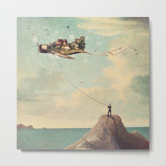 City Kite Afternoon Metal Print