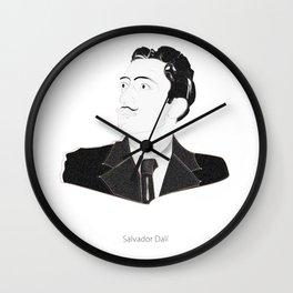 Sketch Of Salvador Dali Wall Clock