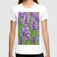 lavender T-shirts featuring lavender by GISMANA