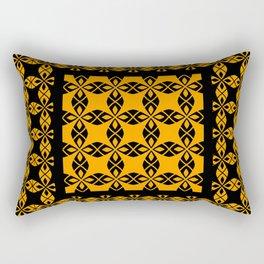 African Ethnic Pattern Black and Orange Rectangular Pillow