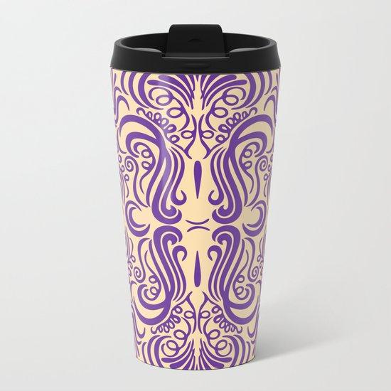 Vintage Ornaments Violet Metal Travel Mug