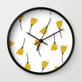 Fall Floral Wall Clock