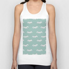 Mint Sleeping Eyes Of Wisdom-Pattern- Mix & Match With Simplicity Of Life Unisex Tank Top