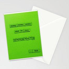 Money Money Money Stationery Cards