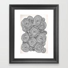 Bear Squiggles Framed Art Print
