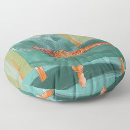 animals in chairs #5 the Pangolin Floor Pillow