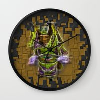 actor Wall Clocks featuring Chinese Theatre Actor In Pieces by Lucia