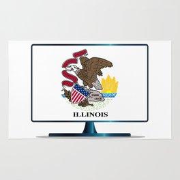 Illinois Flag TV Rug