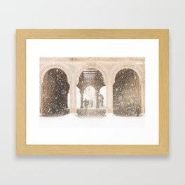 Central Park Snow Framed Art Print