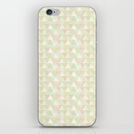 Pastel triangles iPhone Skin