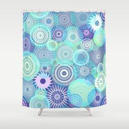 Kooky kaleidoscope Purples and Teal Shower Curtain