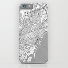 Barcelona Map Line iPhone Case