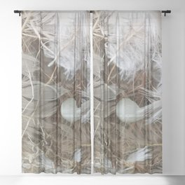 Empty nest Sheer Curtain