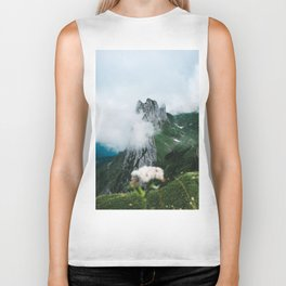 Flower Mountain in Switzerland - Landscape Photography Biker Tank
