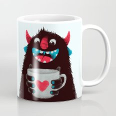 Demon with a cup of coffee (contrast) Mug
