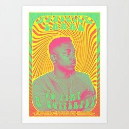Psychodelic Hip-Hop Poster Series / Kendrick Lamar Art Print