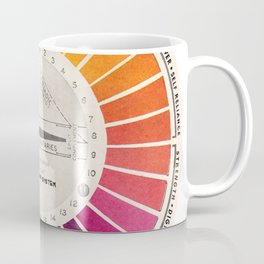 Vintage Color Wheel - Art Teaching Tool - Rainbow Mood Chart Coffee Mug