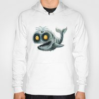 the whale Hoodies featuring Whale by Riccardo Pertici
