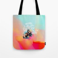 telephone Tote Bags featuring telephone by evenstarss