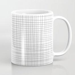 White and Black Grid - Disorderly Order Coffee Mug
