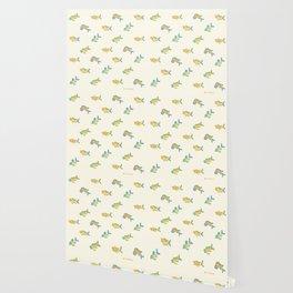 Pastel fish pattern Wallpaper