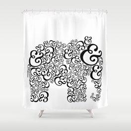 Ampersand Elephant Shower Curtain