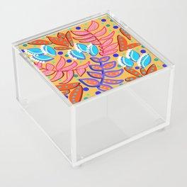 Whimsical Leaves Pattern Acrylic Box