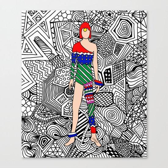 Bowie Fashion 7.5 Canvas Print