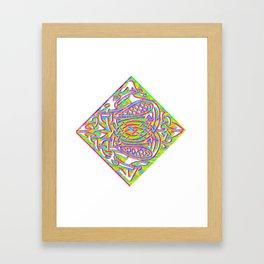 celtic knotted diamond Framed Art Print