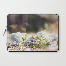 White reindeer moss photo Laptop Sleeve