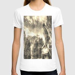 Scots American Memorial And Edinburgh Castle Vintage T-shirt