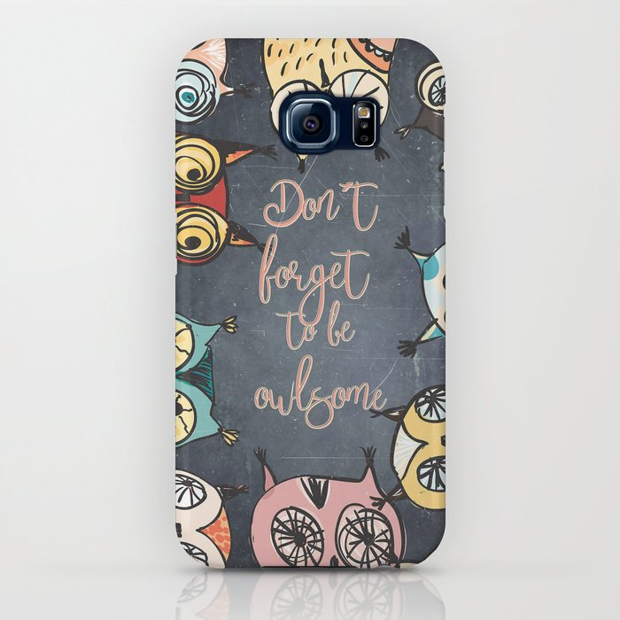 Don´t forget to be owlsome - Animal Owl Owls Fun illustration iPhone Case